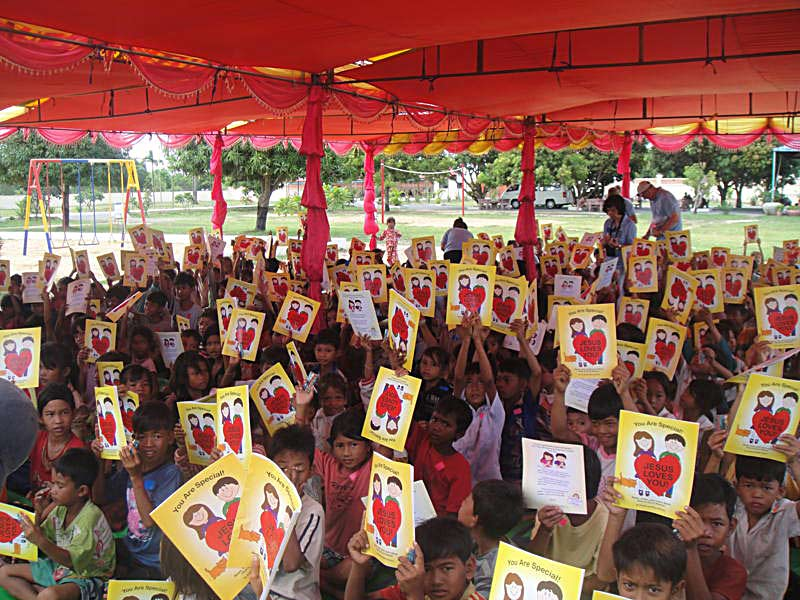 """The books are very easy for the children to understand that God loves them, especially the children in other countries who have never heard of Him before. It helped create a want in their hearts to know about Jesus.""  Neri and Henry T. – Oklahoma (They have used over 1000 of these books in their work with orphans in Cambodia)"