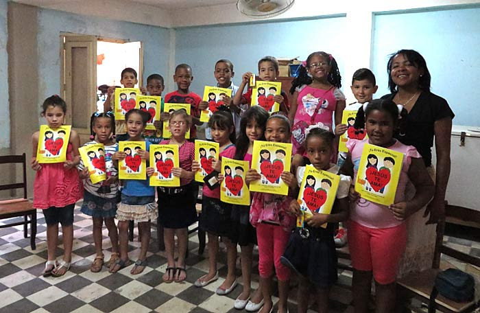 """The kids absolutely loved the coloring books and we talked through the Salvation message so it was just perfect for the class.  Thank you so much for all you do and for being so helpful.  Our mission trip to Cuba was a great success and a wonderfully rewarding experience.  You just never know where the coloring books might end up...all the way to Cuba!""  Sharon M. - Texas"