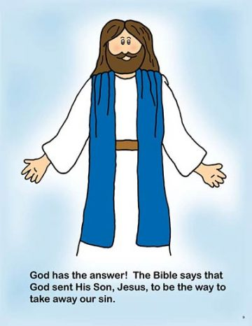 Christian coloring books for kids - coloring pages from the Bible